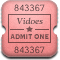MovieTicketAlt Rounded Icon