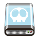 BLUE HD SKULL Icon