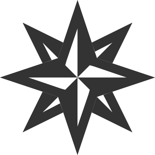 Maps wind rose Icon