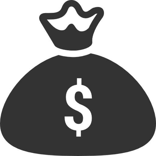 Shopping money bag Icon