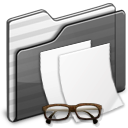 Documents Folder black Icon