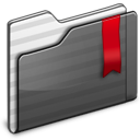 Favorites Folder black Icon