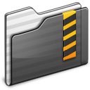 Security Folder black Icon