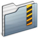 Security Folder graphite Icon