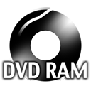 Black DVDRAM Icon