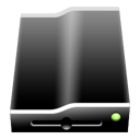 Black RemoveableDrive Icon