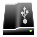 Black USBdrive Icon