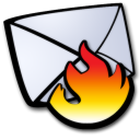 email spam fire Icon