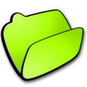 folder lime open Icon