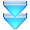 Action arrow blue double down Icon
