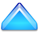 Action arrow blue up Icon
