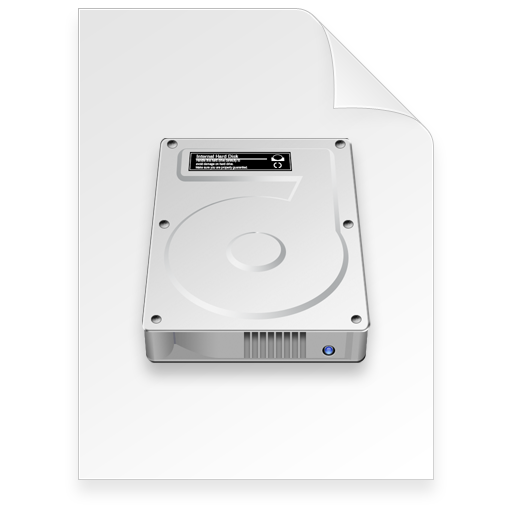 disk image Document light Icon