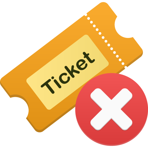 Ticket remove Icon