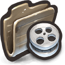 Film Reels That Look Like the Innards of a Tire Icon