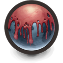 Blood...er...Paint Covered Planet Icon