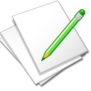 Documents white edit Icon