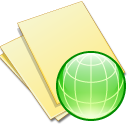 Documents yellow web Icon