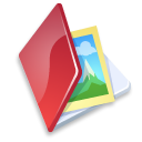 Folder image red Icon