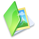 Folder picture green Icon