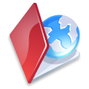 Folder web red Icon