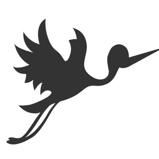 Baby Flying stork Icon