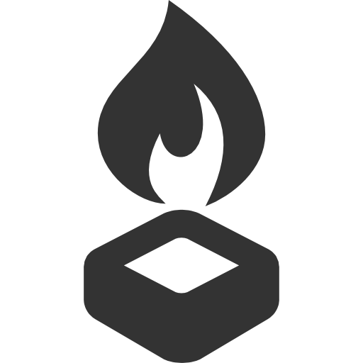 Camping Equipment Hex burner Icon