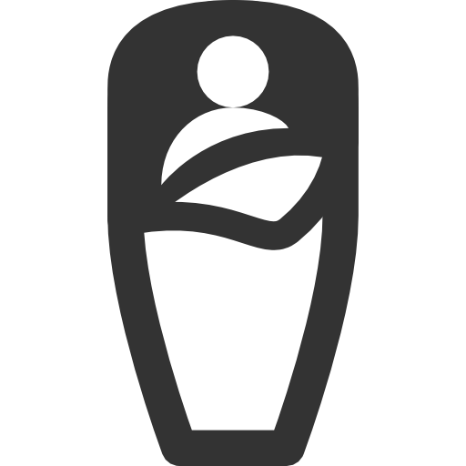 Camping Equipment Sleeping bag Icon