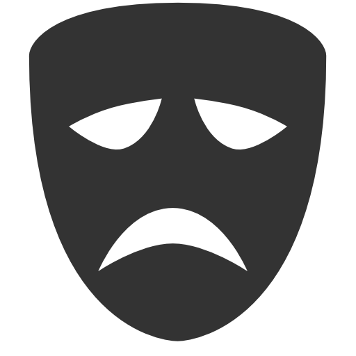 Theatre Set Tragedy mask Icon
