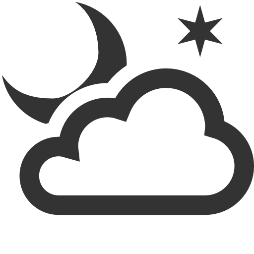 Weather Partly cloudy night Icon