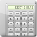 Calculator White Icon