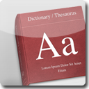 Dictionary White Icon