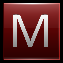 Letter M Red Vector Icons Free Download In Svg Png Format