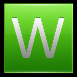 Letter W lg Icon