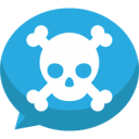 Jolly roger bubble chat Icon