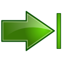 Actions green arrow right end Icon
