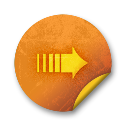 Orange sticker badges 018 Icon