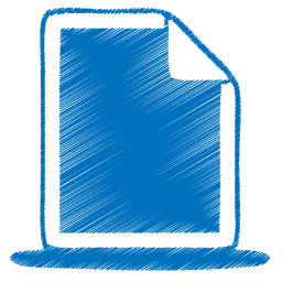 blue document Icon