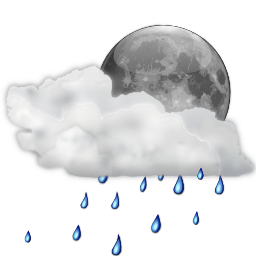 Status weather showers scattered night Icon