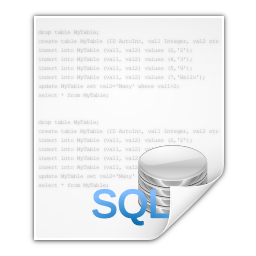Mimetypes text x sql Icon