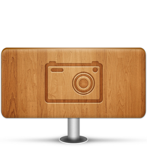 Pictures Wood Icon