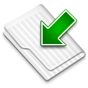 Downloads White Icon