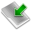 Grey Downloads Icon