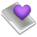 Grey Favorites Heart 1 Icon