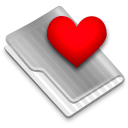 Grey Favorites Heart 2 Icon
