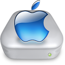 Drive Apple aqua metal Icon