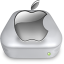 Drive Apple gray metal Icon