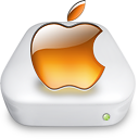 Drive Apple tangerine Icon