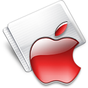 Folder Apple strawberry Icon