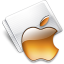 Folder Apple tangerine Icon