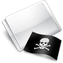 Folder Flag Skull And Crossbones Icon